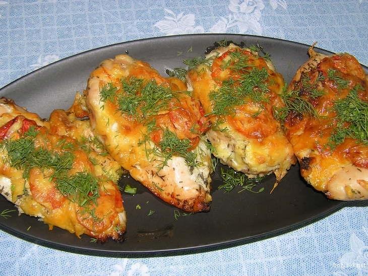 Филе куриное рецепты с сыром и помидорами в духовке рецепт с пошагово